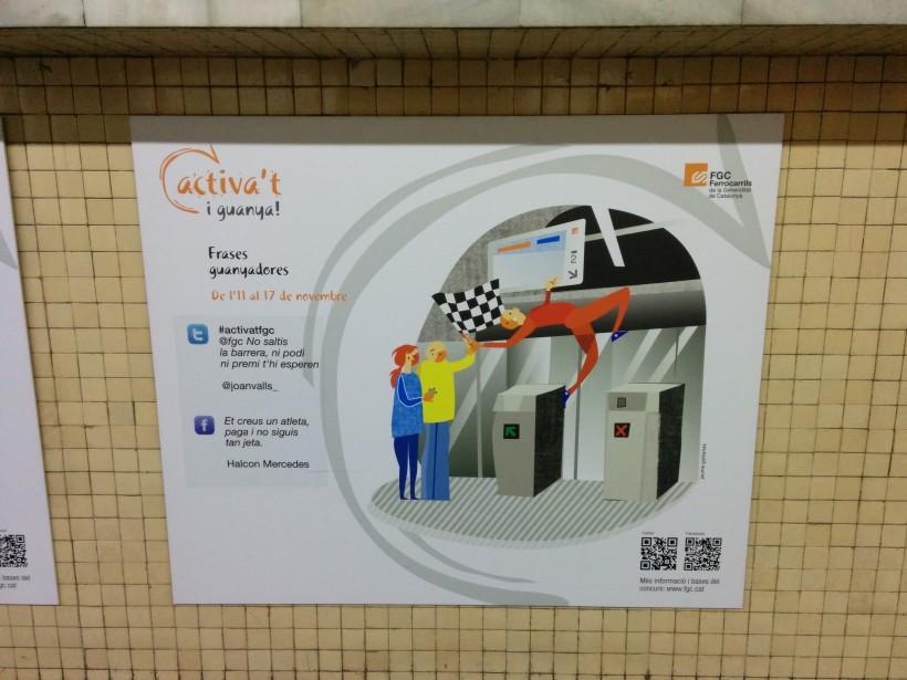 #activatfgc - социална кампания на градския транспорт - с цитати от Twitter и Facebook