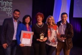 """""""Купувам българско"""" с голямата награда на BAPRA Bright Awards 2015"""