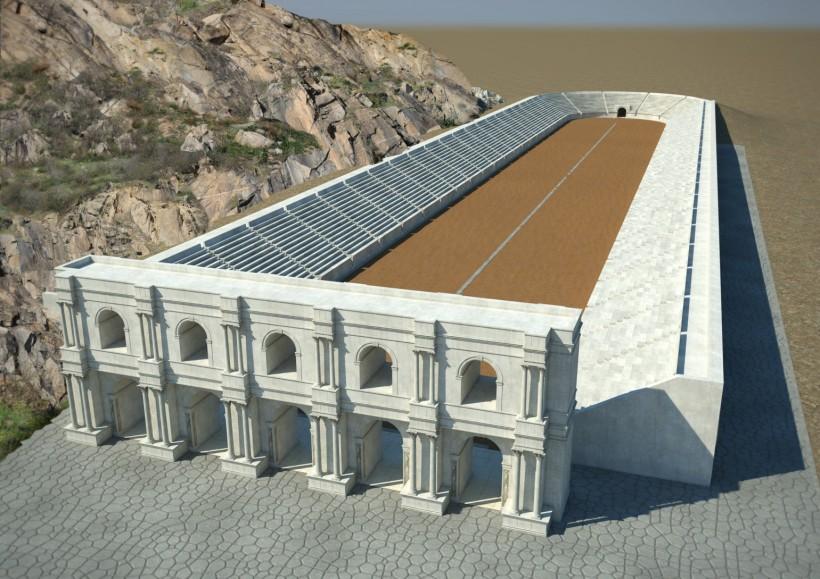 Antient-stadium_3D view
