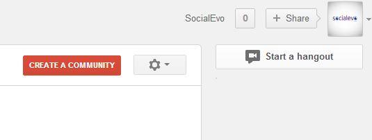 """Отваря се страницата за Общности. Горе вдясно има червен бутон """"Create a Community""""."""