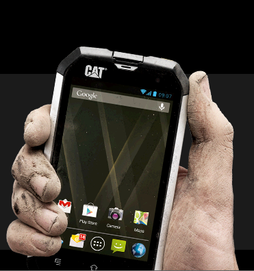 CAT B15 работи под Android OS, v4.1 (Jelly Bean)