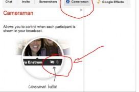 Cameramann button: Нова възможност Google + Hangouts