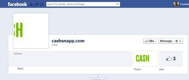 CashSnapp във Facebook