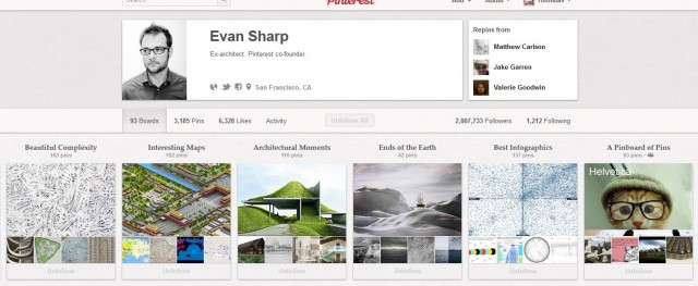 Evan Sharp: Бивш архитект. Един от създателите на Pinterest.