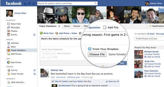 Ново: Ползвайте Dropbox и във Facebook група