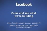 Мистериозна пресконференция от Facebook на 15 януари. Нов телефон от Facebook?