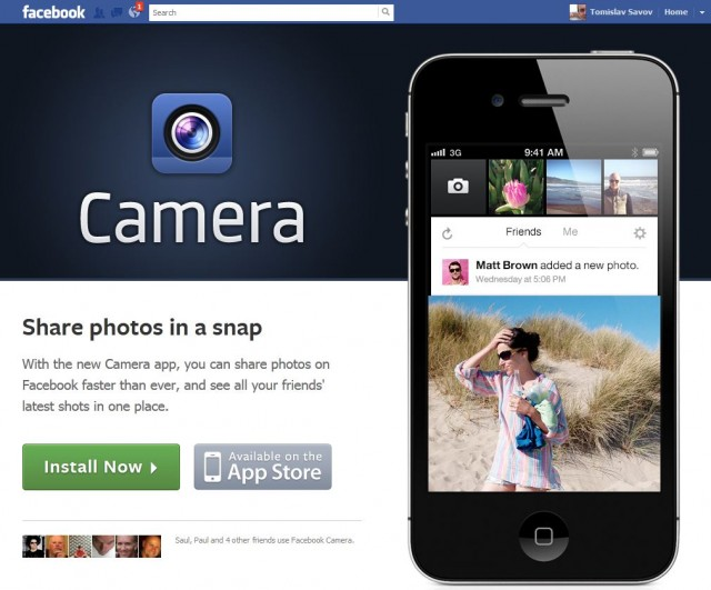 Facebook пусна Camera, клонинг на Instagram?