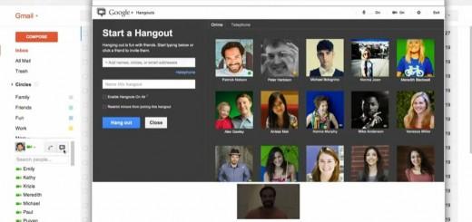 Google Hangouts вече достъпна и от Gmail