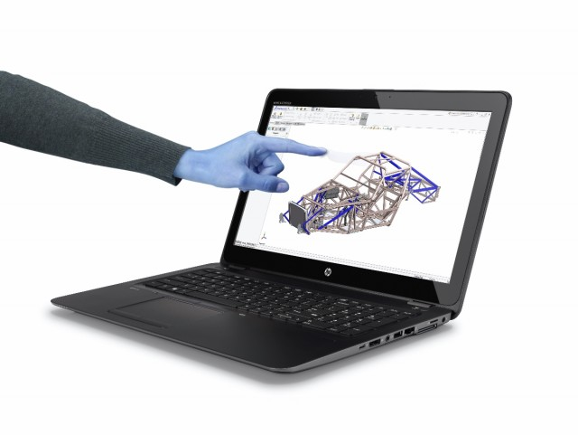 HP ZBook15u_Touch_G4_with_Hand_Solidworks