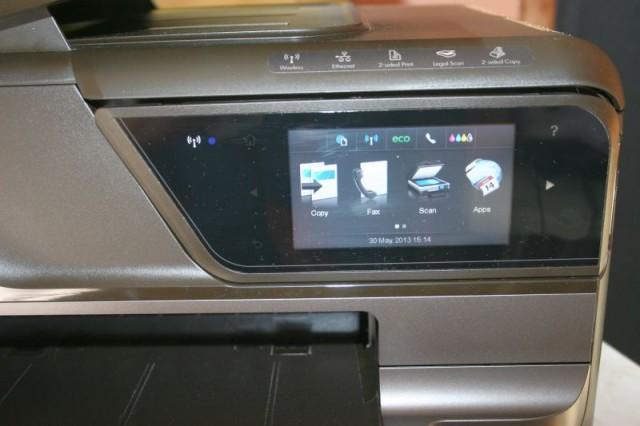 Цветен сензорен дисплей за управление