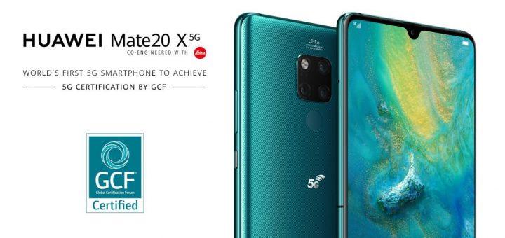 HUAWEI Mate 20 X (5G) е първият в света мобилен телефон, който получава 5G сертификат от Глобалния сертификационен форум (GCF)
