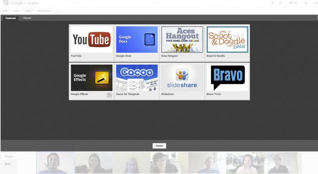 Новите приложения за Google+ Hangouts