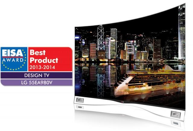Извитият OLED телевизор на LG отличен на наградите на EISA 2013