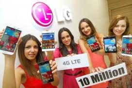 LG продаде 10-милионния си LTE смартфон