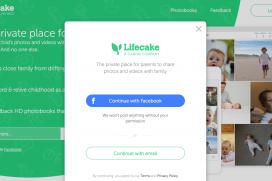 Вижте социалната мрежа на Canon за семейни снимки Lifecake