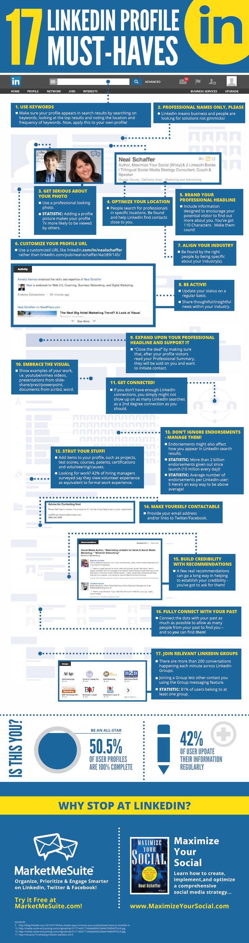 LinkedIn-Ultimate-Profile-Tips-Summary-Infographic-600