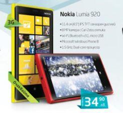 Nokia Lumia 920 се предлага на изплащане с 2-годишен договор от Globul за 34.90 лв. месечно.