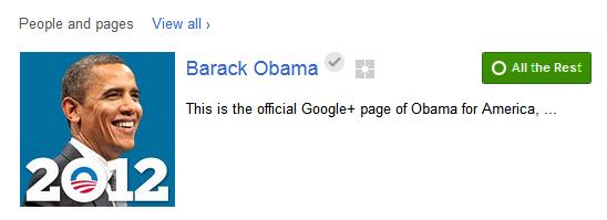Барак Обама с профил и в Google+