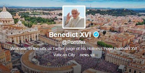 Папа Бенедикт XVI ни благослови официално в Twitter