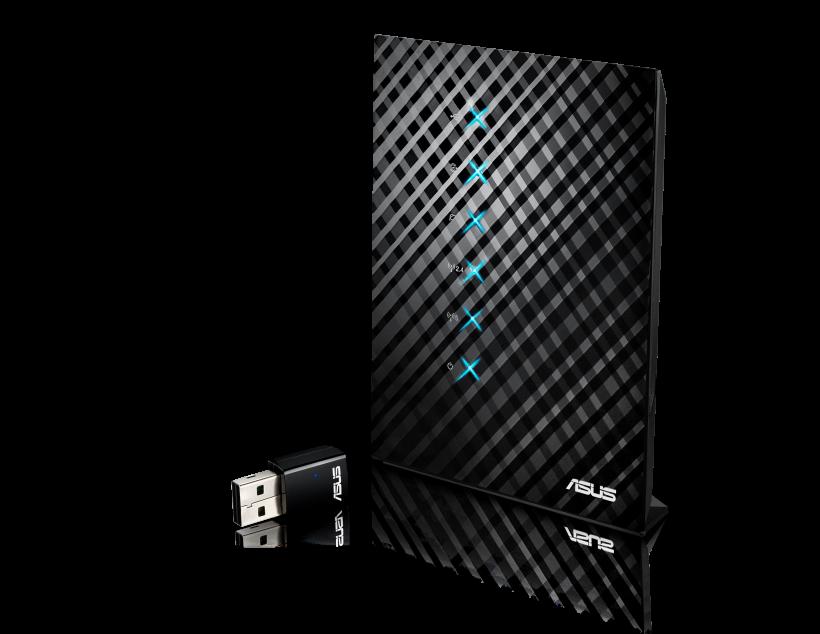 Нов безжичния рутер RT-AC52U с адаптер USB-AC50 от ASUS