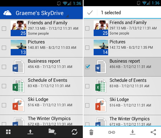 Microsoft пуснаха SkyDrive и за Android