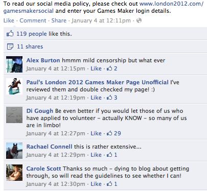 някои от коментарите от Facebook по отношение на политиката