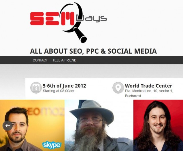 SEM Days Bucharest -    Rand Fishkin, Ralf Tagmajer, SEOmoz, Distilled, Bitdefender
