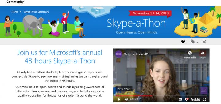 Образователна виртуална конференция на Майкрософт - Skype-a-Thon