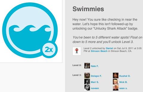 Във foursquare вече можем да печелим многократно дадена значка.
