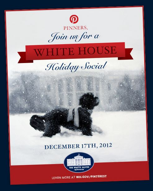 Белият дом с официално присъствие в Pinterest