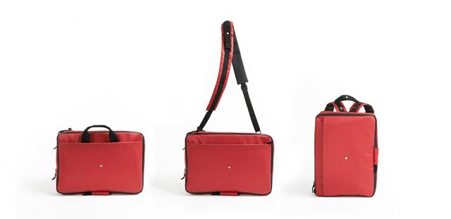Тя може да се трансформира в ръчна чанта, раница или чанта за рамо само за секунди.