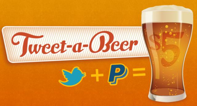 Две студени бири за моя добър приятел на Карибите с Tweet-a-beer