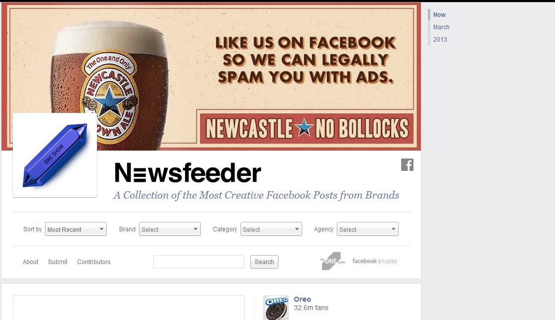 Newsfeeder - най-креативните публикации на търговски марки във Facebook