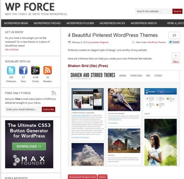 Дори има готови WordPress теми.