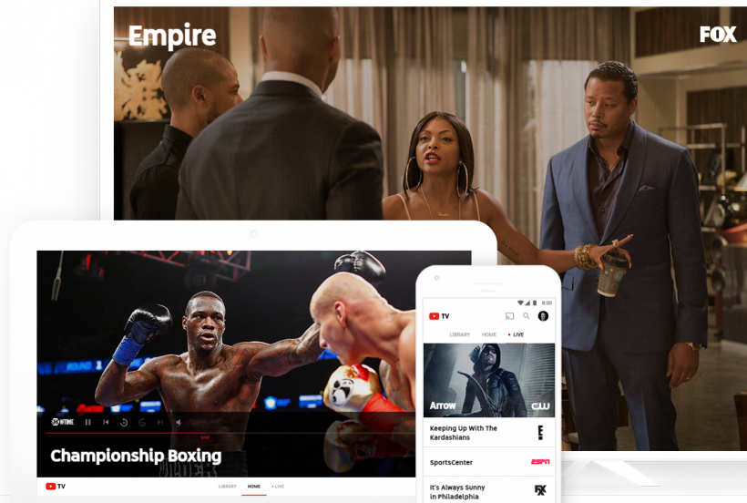 Нова онлайн видео услуга Google YouTube TV