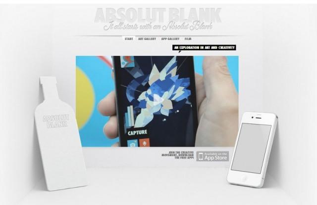 ABSOLUT BLANK – една впечатляваща рекламна кампания