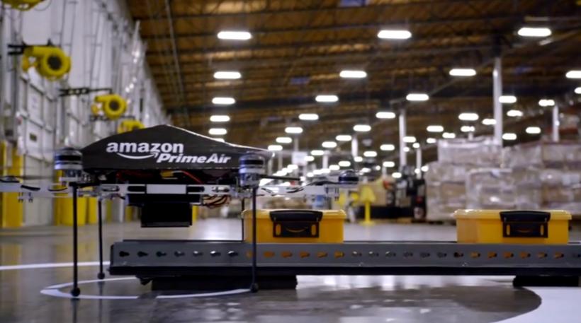 Летящи дронове разнасят доставки на Amazon - Prime Air