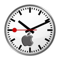 apple swiss clock