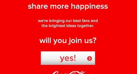 Coca-Cola с Facebook апликация на щастието