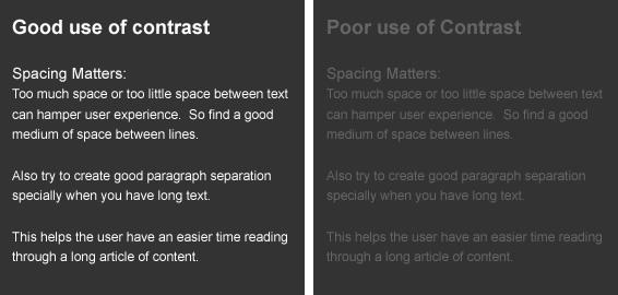 Color contrast web design
