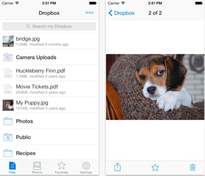 Dropbox обнови приложението си за iOS 7