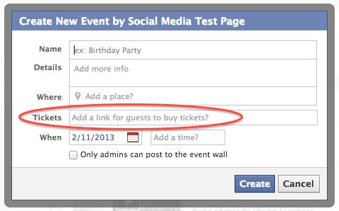 Facebook buy tickets button