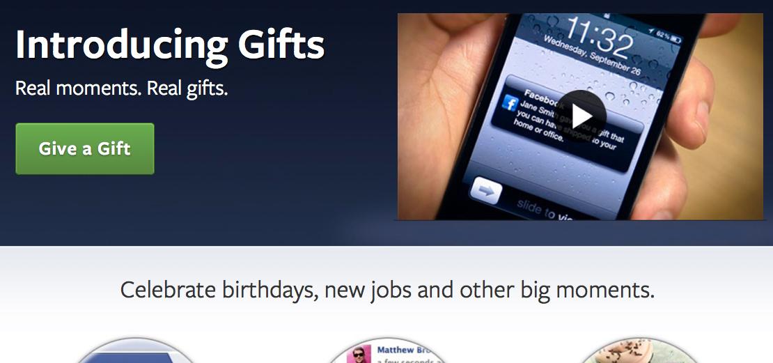 Facebook Gifts вече идват и по разписание