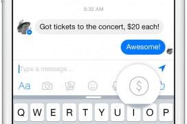 С Facebook Messenger вече могат да се изпращат и пари