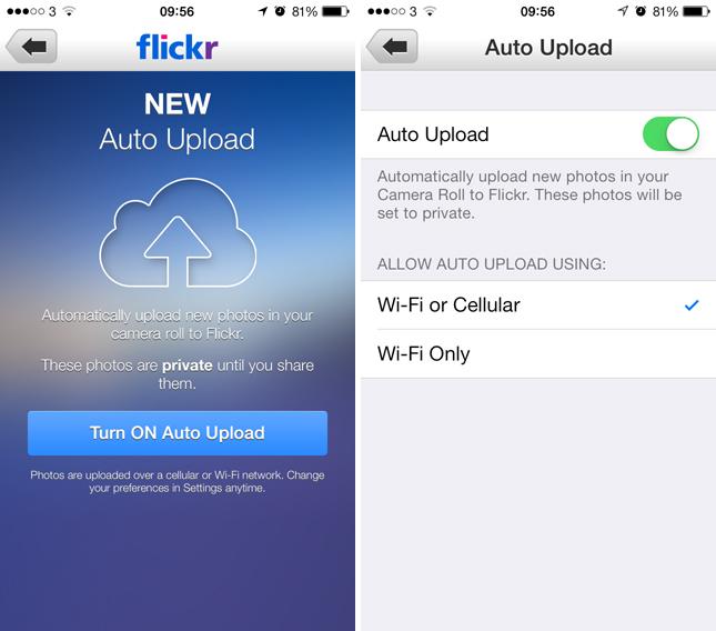 Flickr вече с автоматично качване на снимки за iOS