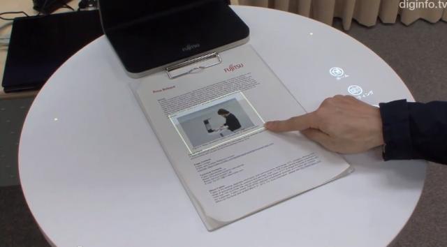 Fujitsu представиха технология, която може да превърне хартия в сензорен екран