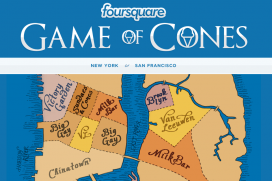 "Foursquare организират ""Game of Cones"" в Ню Йорк и Сан Франциско"