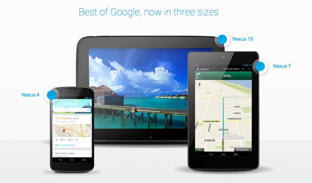 Google представиха Nexus 4, Nexus 7 и Nexus 10
