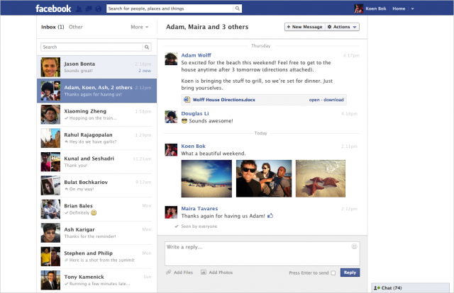 Facebook съобщенията получават сериозен визуален ъпгрейд!