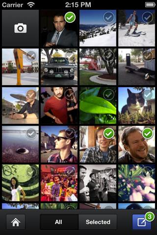 Можете да маркирате и качвате няколко снимки едновременно (до 30), при това с по-висока резолюция.